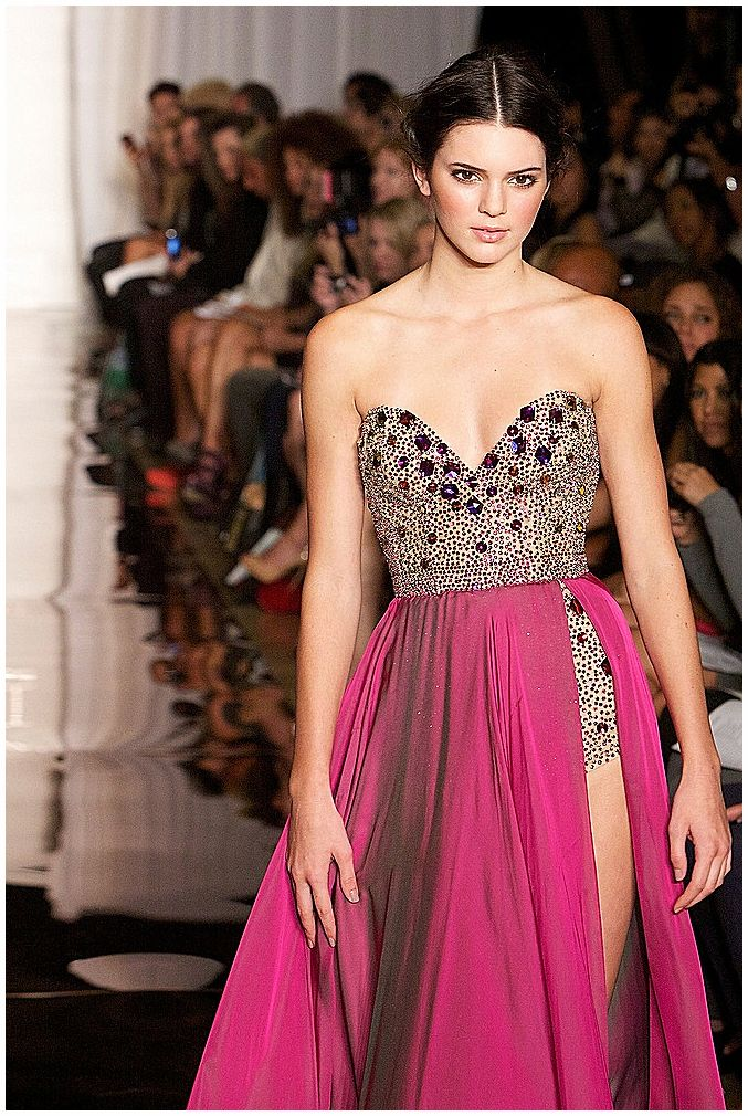 Kendall Jenner - September 14th 2011 - Evening By Sherri Hill Spring 2012 Collection