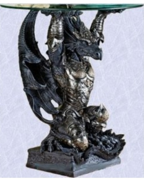 Buy Gothic Medieval Coffee Table Mystic Dragon End Table At Wish   Shopping  Made Fun