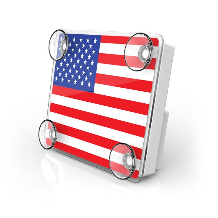 Large Toll Pass / EZ Pass / Transponder Holder - US Flag from AutoBoxClub