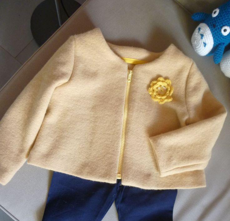 Veste en laine bouillie d'après un patron Victor (home made by QueenB)