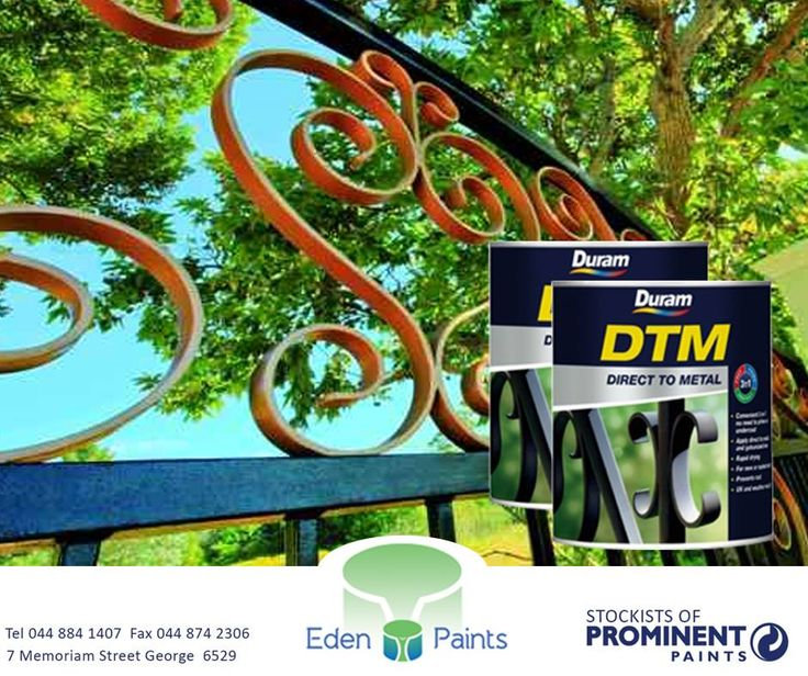 #Duram DTM Direct To Metal is a convenient all-in-1 direct to metal paint for the protection and decoration of interior and exterior metal surfaces including mild steel, wrought iron, galvanized iron, stainless steel and aluminium surfaces. It is also an anti-rust coating for new or rusted metal. Available at #EdenPaints\P#paint #metal