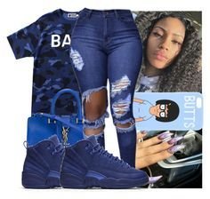 """"""""""" by kodakdej ❤ liked on Polyvore featuring A BATHING APE, Yves Saint Laurent and NIKE"""