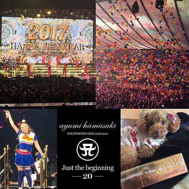. 最高の2016年の締めくくりと2017年の幕開けとなりました 2017年もよろしくお願い致します(´∀`) 出逢いに感謝♡ 今年もhappyな毎日を過ごせますように… A Happy New Year!  Please treat me this year as well as you did last year. #JustTheBeginning20 終わりの始まりの章 #ayumihamasaki #countdown #Live #JustTheBeginning #ayu_CDL #Day3 #20161231 #20170101 #ayuDay #TA #TeamAyu  #AHappyNewYear!  #浜崎あゆみ #カウコン #大晦日#一座 #聖地代々木 #代々木第一体育館  #TOKYO #JAPAN . #あゆ友 #静岡 #お土産 #ありがとう #高級 #うなぎパイ #愛犬 #ラブ #toypoodle