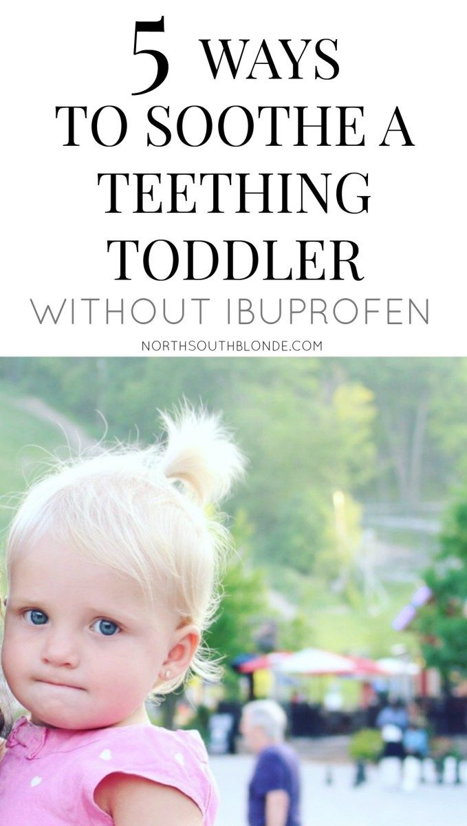 Soothe a Teething Toddler (without Ibuprofen), natural remedies, at home, babies, parenting
