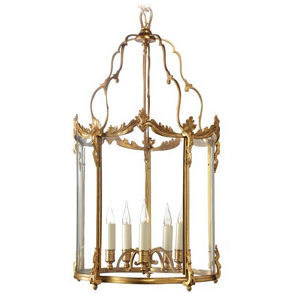 Exquisite Baguès Gilded Bronze Lantern available through AndreaFisherDesign.com  #frenchlighting #maisonbagues #frenchlantern #frenchchandelier