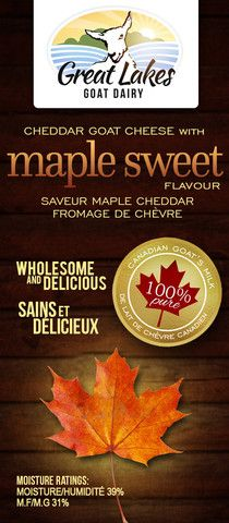 Maple Sweet Cheddar Goat Cheese – Great Lakes Goat Dairy