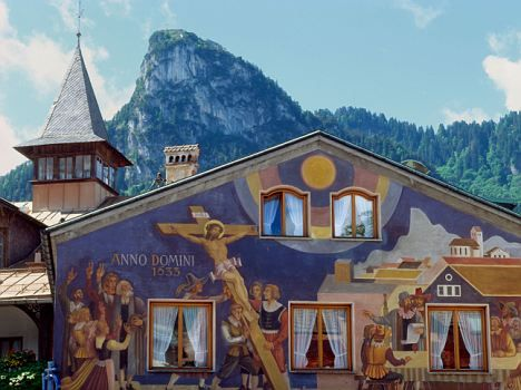 Oberammergau, Germany - They hold a Passion play every 10 years to thank God for saving them from the plague