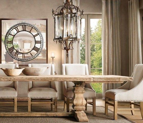 .: Dining Rooms, Restoration Hardware, Salvaged Wood, Dining Room Tables, Kitchens Tables, Diningroom, Wood Tables, Trestle Tables, Dining Tables
