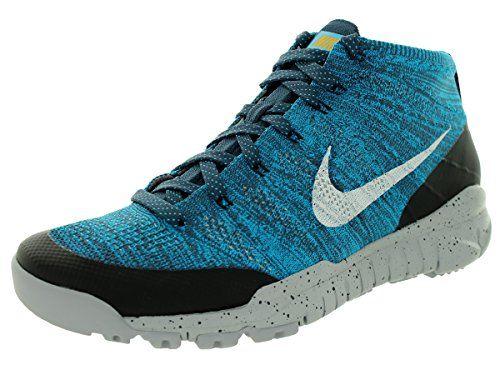 Nike Men\u0027s Flyknit Trainer Chukka Fsb Sqdrn Bl/Smmt Wht/N Trq/Drk