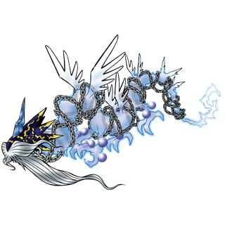 Azulongmon - Mega level Holy Dragon digimon; Digimon Sovereign of the East, and one of the 'Four Great Dragons'