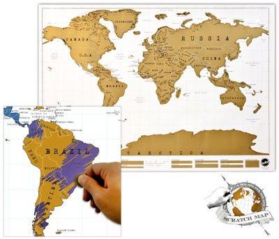 Stírací mapa světa - deluxe: Scratch Map je stírací mapa svyznačenými státy, které si můžete podle své libosti stírat a na mapě tak označovat. Na mapě si můžete označit všechny země, které jste navštívili nebo všechny ty, ve kterých máte své přátele.…