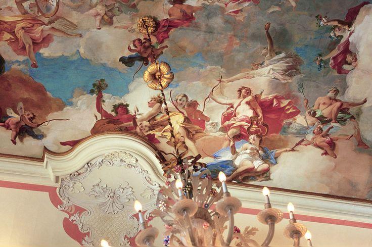Ceiling #fresco, #Ca' Marcello, #Veneto, #Piombino #Dese - Italy