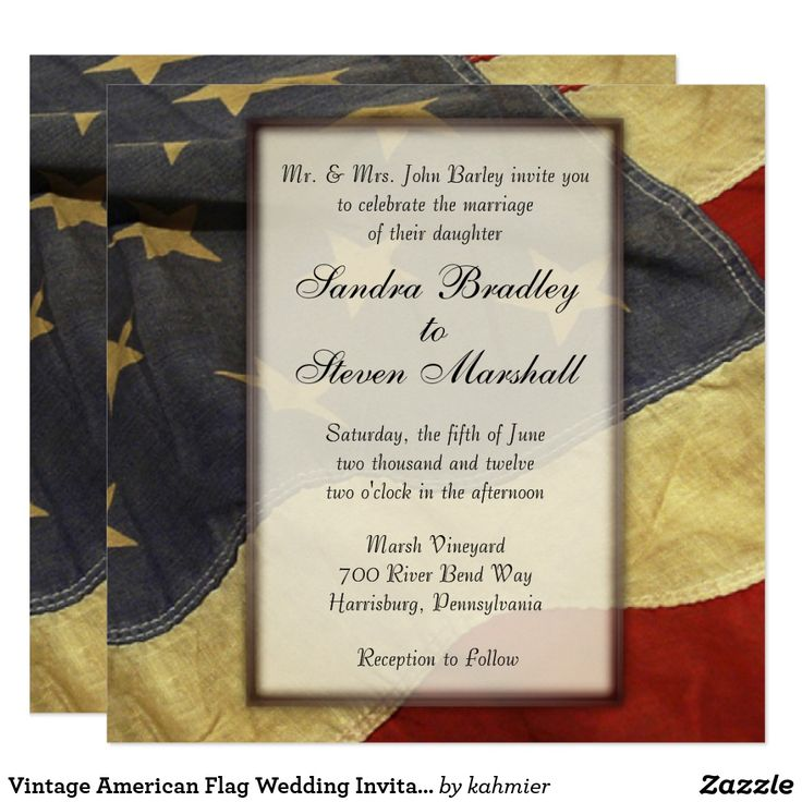 zazzle wedding invitations promo code%0A Vintage American Flag Wedding Invitations