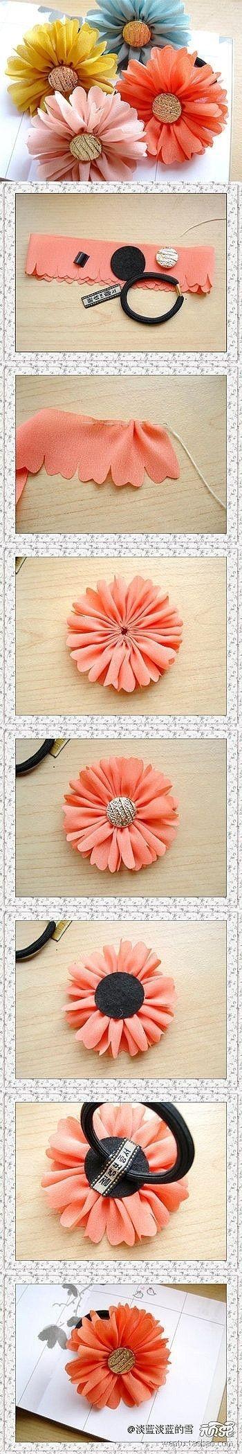 fabric flower #DIY
