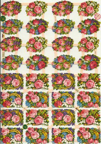 Rigtig flotte glansbilleder med små roser til din kreative hobby og som tilbehør til dine hobbyartikler fra Sjovogkreativ.dk