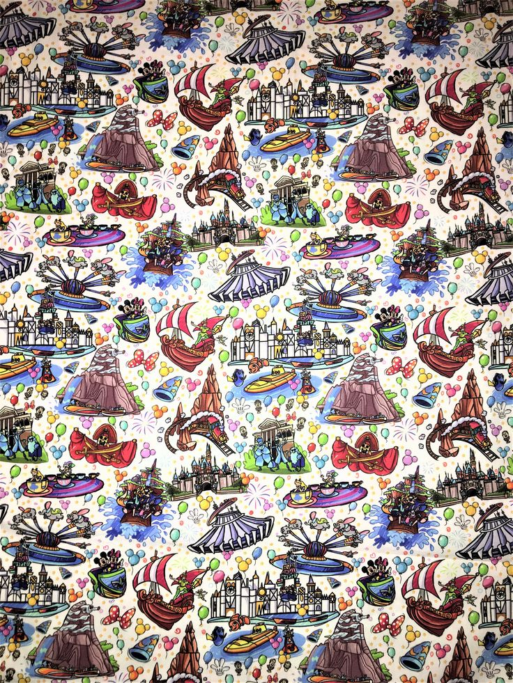 Disney Wallpaper, Tiki room Fabric, Tiki room, Disneyland ...