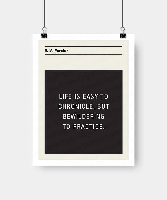 E. M. Forster Quote Wall Art Digital Download