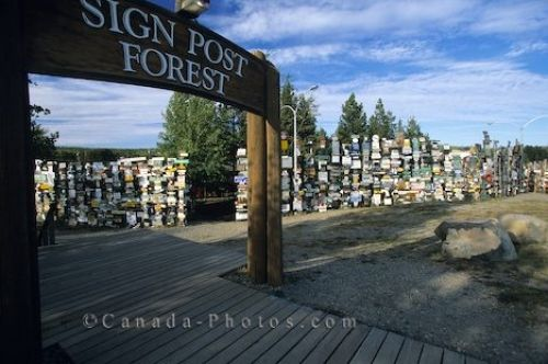 Picture of Sign Post Forest in Watson Lake in the Yukon Territory in Canada.
