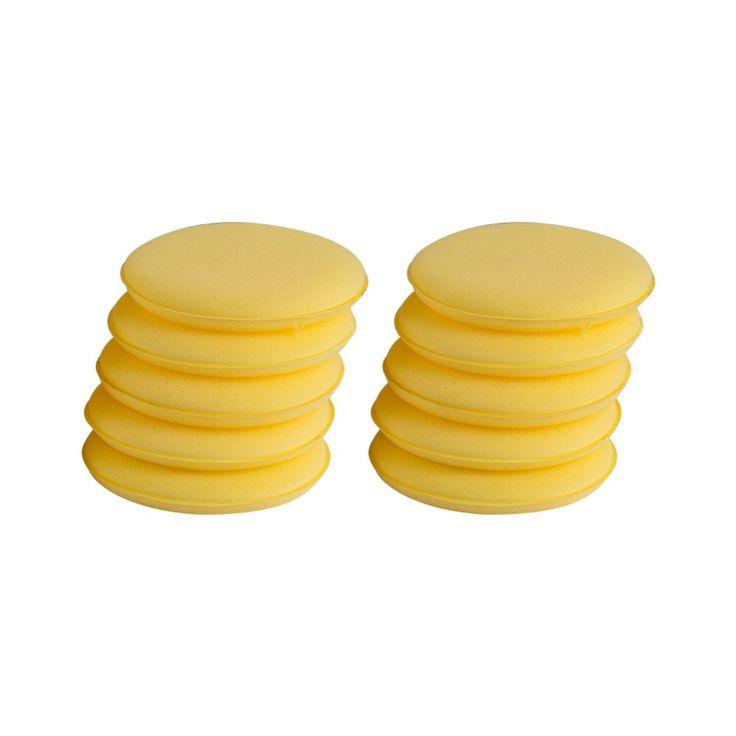 10PCS 3.3 INCH Car Waxing Polish Foam Sponge Wax Applicator Cleaning Waxing Sponges Ball