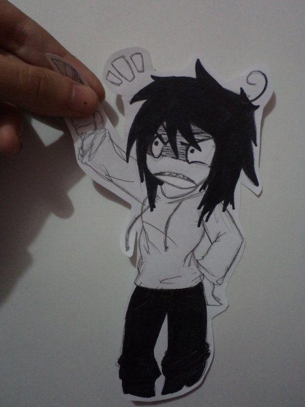 Cute Jeff The Killer Anime | Jeff the Killer Paper child by Kinjy-Dizp35