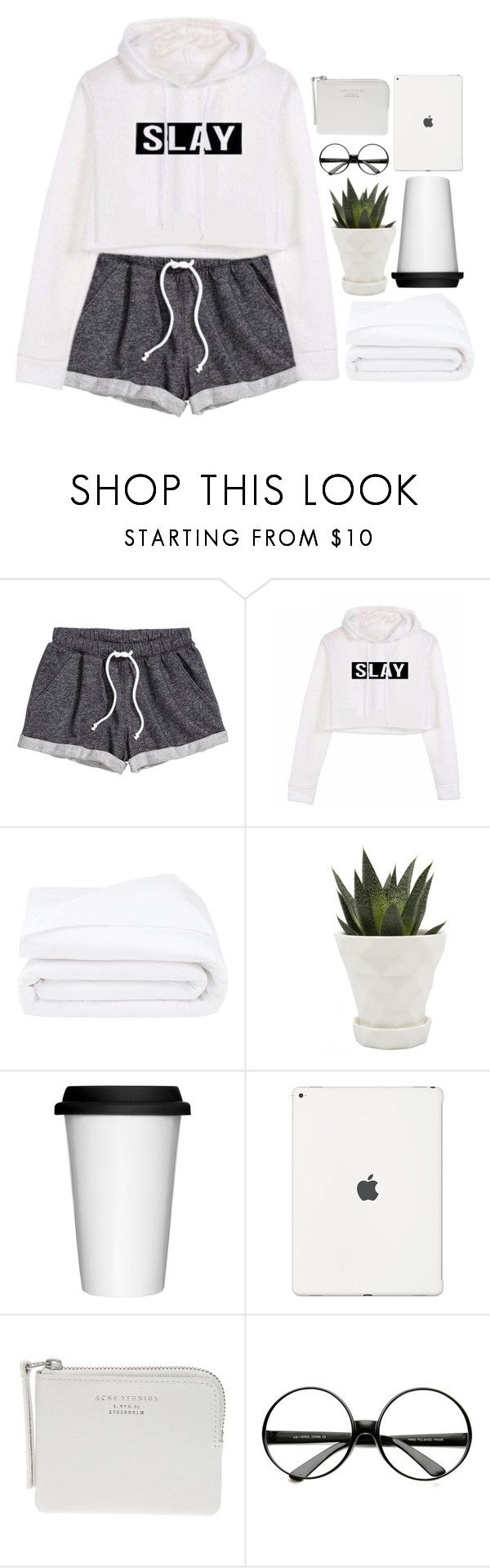 """ask yourself"" by emilypondng ❤ liked on Polyvore featuring H&M, Frette, Chive, Sagaform, The Webster and ZeroUV"