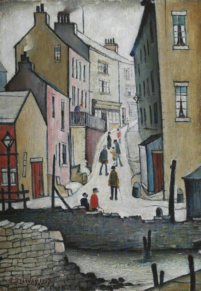 An Old Street, L S Lowry,1937.