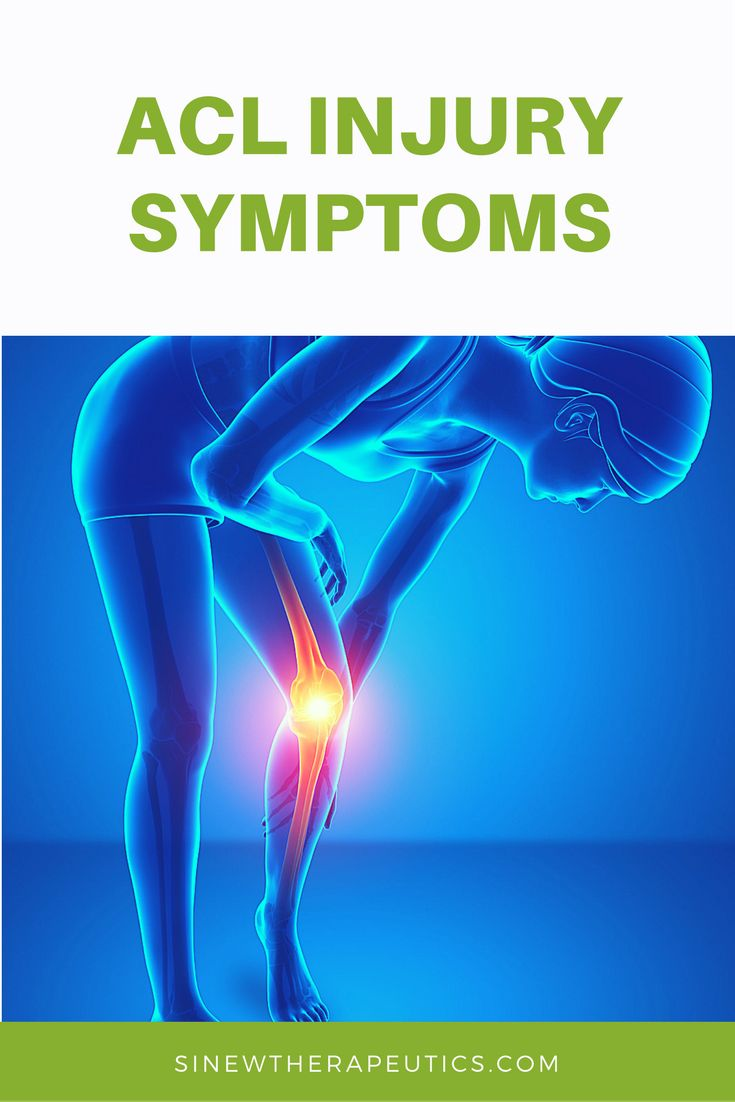 Common symptoms of an ACL injury are swelling, redness, pain, stiffness and weakness. Get fast pain relief and recovery by following our treatment guide based on if you have acute or chronic stage symptoms.