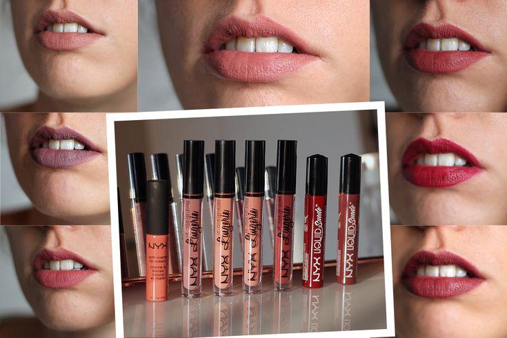 nyx lipsticks mats