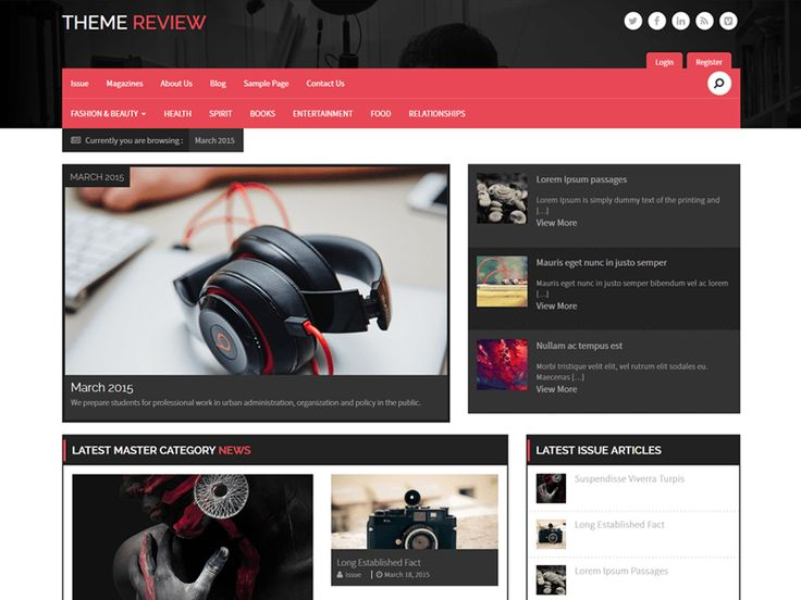 Manage Issue Based Magazine — Free WordPress Themes