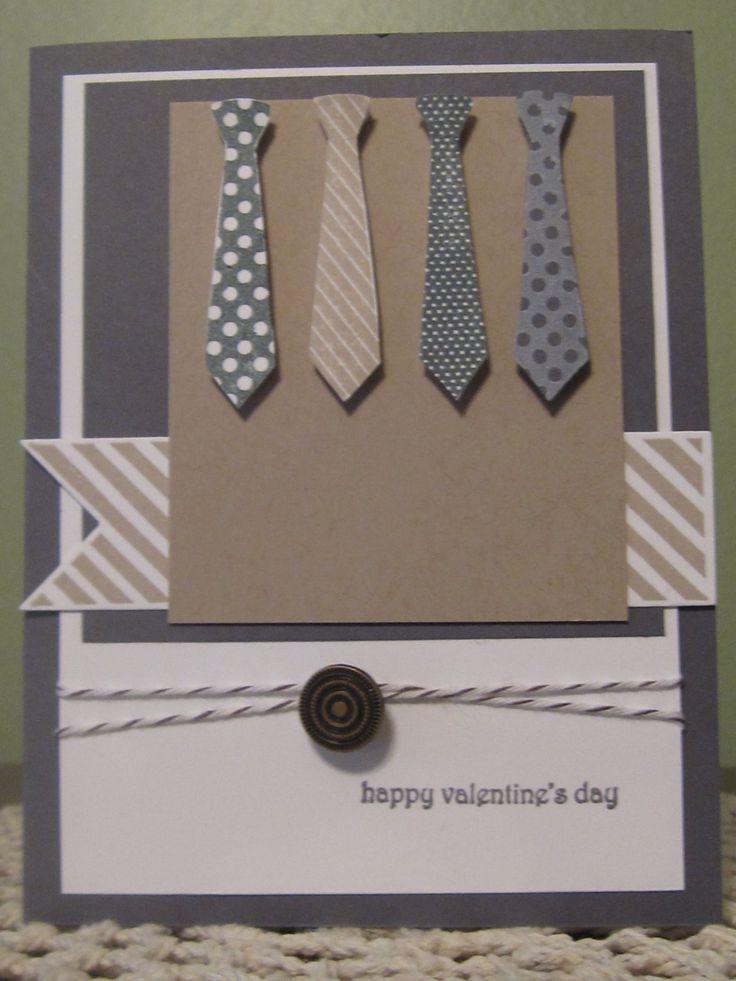 Handmade Greeting Card: Masculine Valentines Day ...