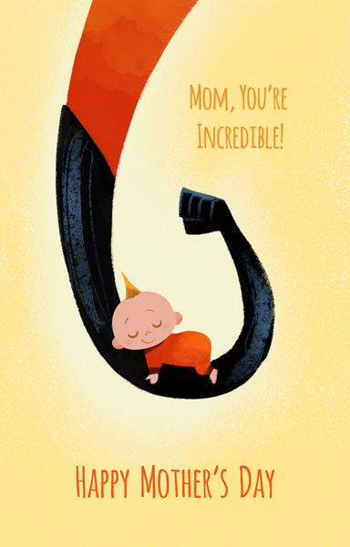 Disney Mother's Day Cards Sure to Warm Your Heart | INCREDIBLES