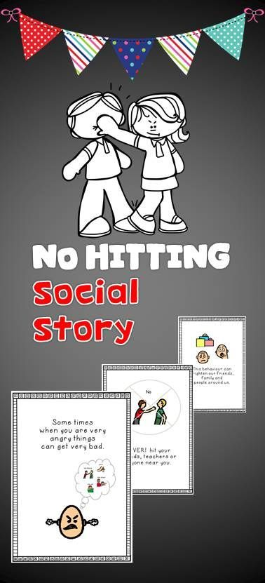 "Social Story ""No hitting"" has been tried and tested with my students. Social stories help a person with autism understand how to behave or respond in a particular situation using a visual guide describing various social interactions, situations, behaviours, skills or concepts. The goal of this Social Story is to share accurate social information and how to behave in them instances."