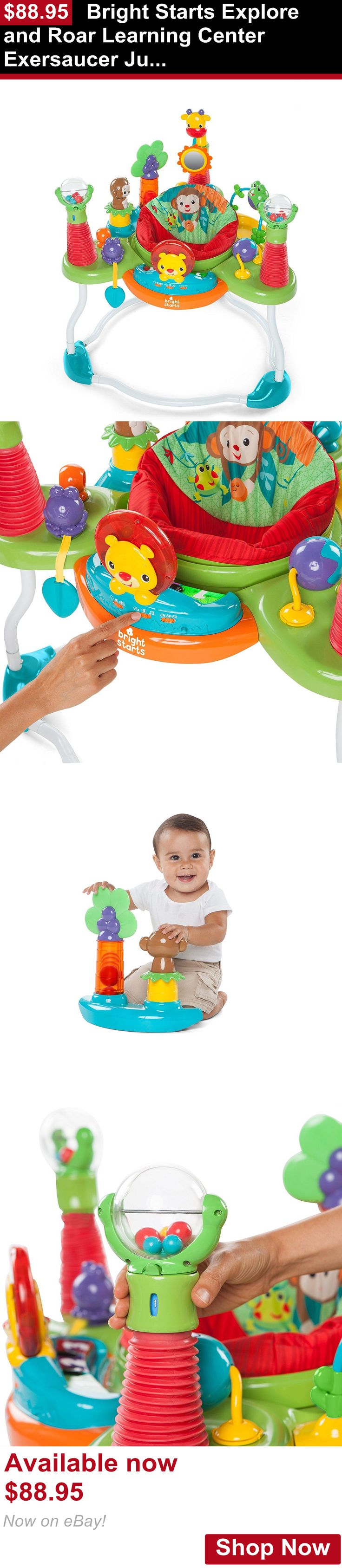 Baby activity centers: Bright Starts Explore And Roar Learning Center Exersaucer Jumper Baby Gym New BUY IT NOW ONLY: $88.95