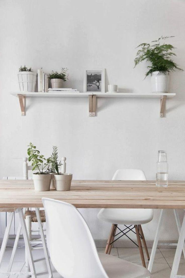 Skandinavisch Wohnen Esszimmermöbel Eames Chairs Weiß Holztisch Wandregal.  Interior StylingHome Interior DesignWood ...