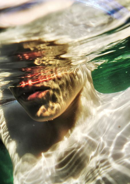 Underwater mouth   #water  #mouth  #photo
