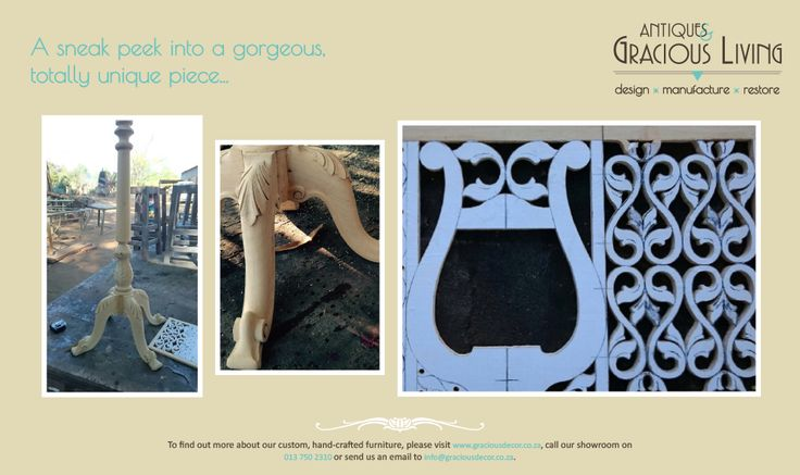 A sneak peek into the preparations for one of our most gorgeous #CustomFurniture pieces yet...