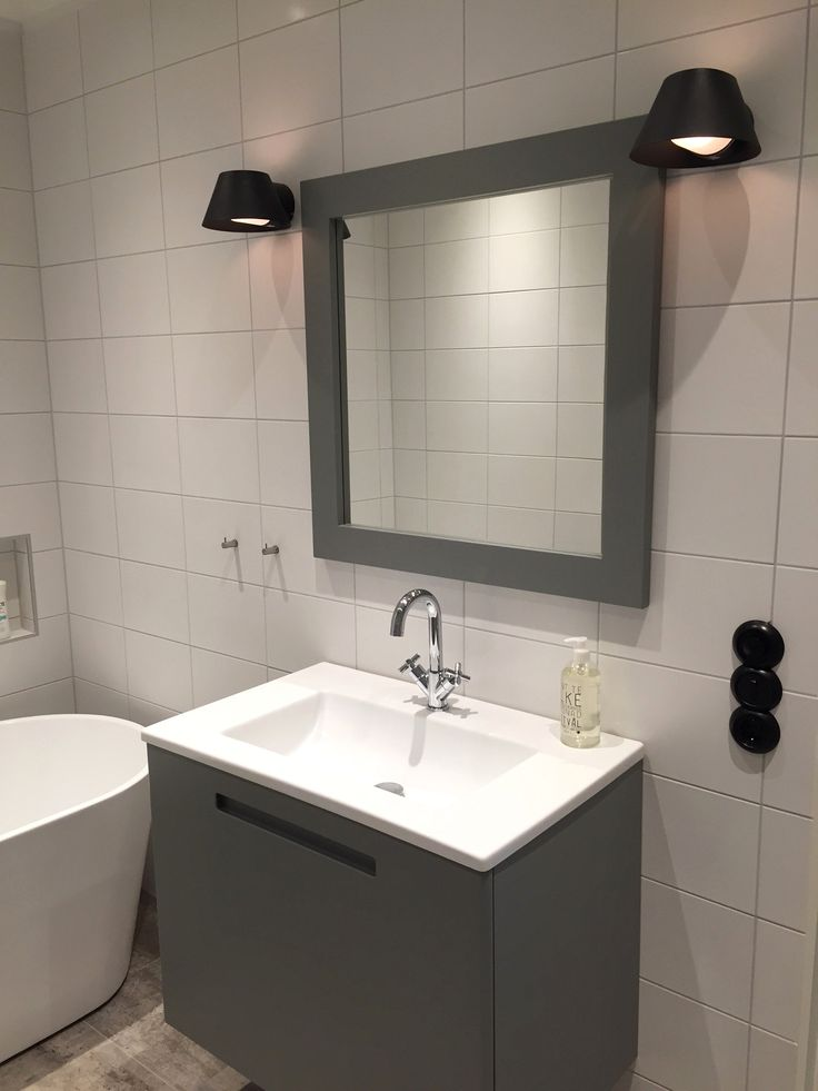 Thanks Linda for the pic of your new bathroom! Swoon Soft Vanity Unit, with your own optional grey NCS-colour.