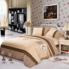Textiles para el hogar 4 unids sistemas del lecho incluyen funda nórdica sábana almohada reina rey tamaño doble juegos de cama edredón ropa de cama(China (Mainland))