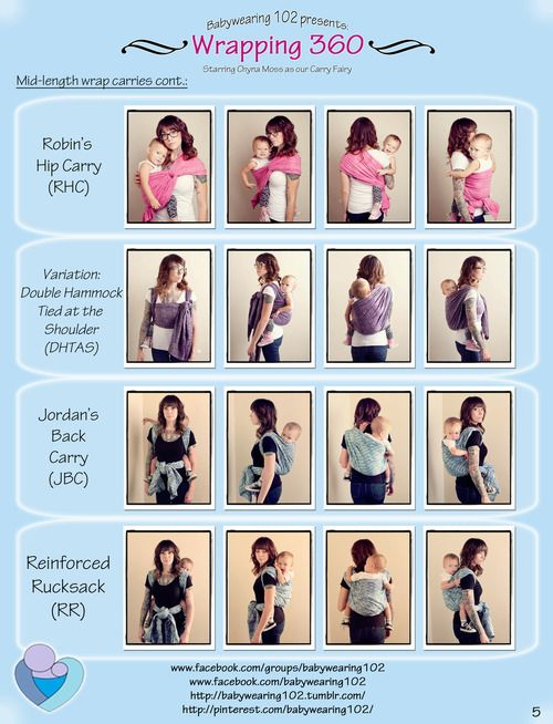 Babywearing 102 Presents: Wrapping 360! Check out some of the most common carries from all angles