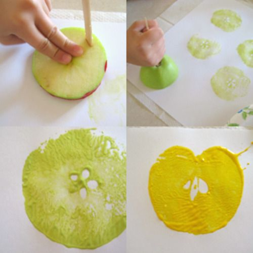 Apple-Stamping-on-paper