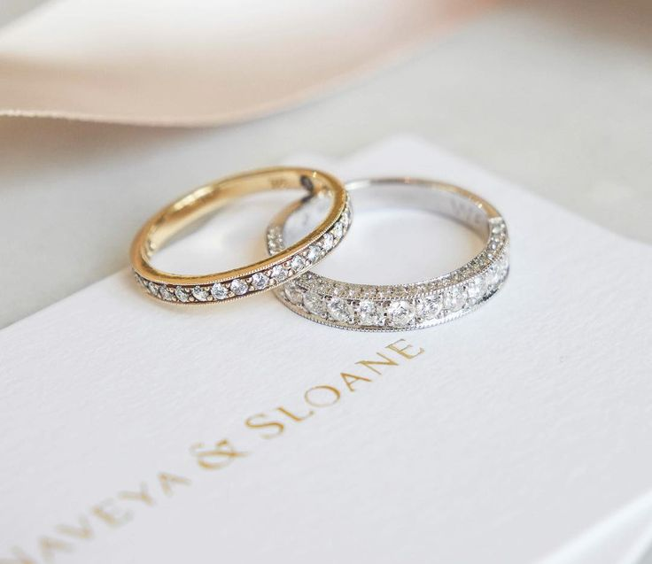 Bridal Shoes Auckland New Zealand: The Bead Set Diamond Band. Naveya & Sloane Wedding Bands