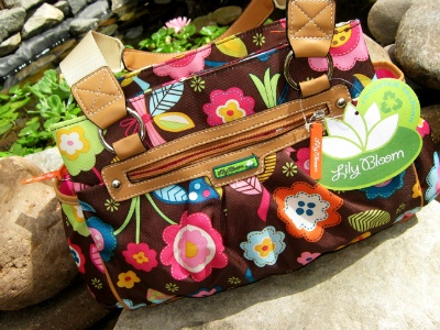 I MUST get one of these! Lilly Bloom Large Satchel in Brown Mod Flowers
