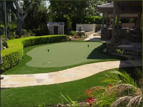 Backyard putting green... must do.