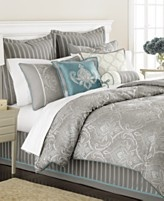 Group of Silver And Teal Bedroom