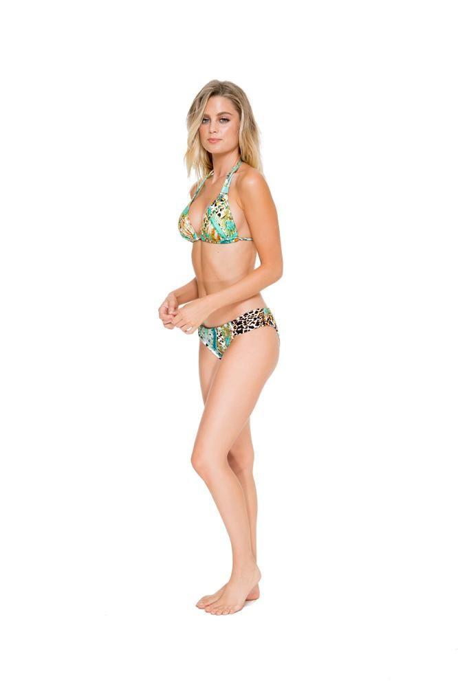 Crystallized Halter Bikini Set #halterbikini #bikiniset #lulifama