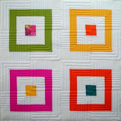 Super cute and simple block that incorporates some nice bold colors by Anita Shackelford of Modern Quilting Designs.