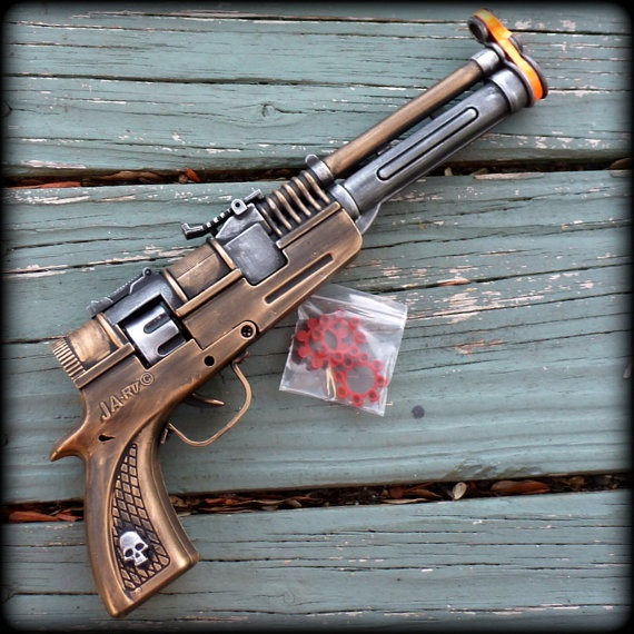 Steampunk Victorian TESLA coil CAP Gun VAMPIRE killer ...