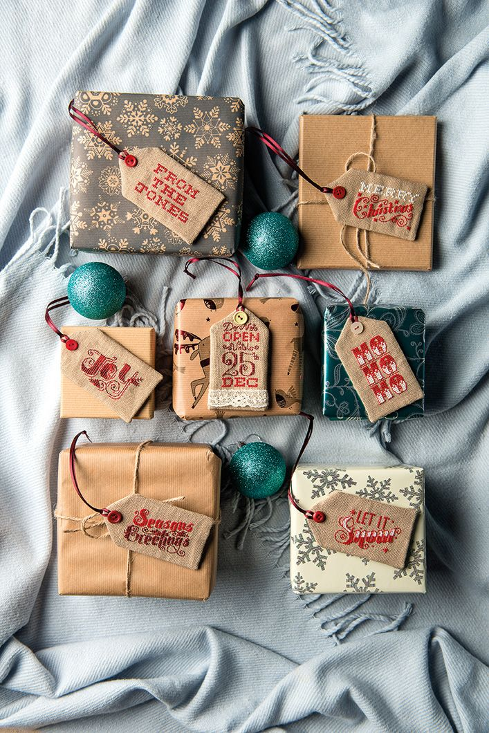 Christmas tags to make in a weekend - chart is from Cross Stitcher December 2015 - issue 256