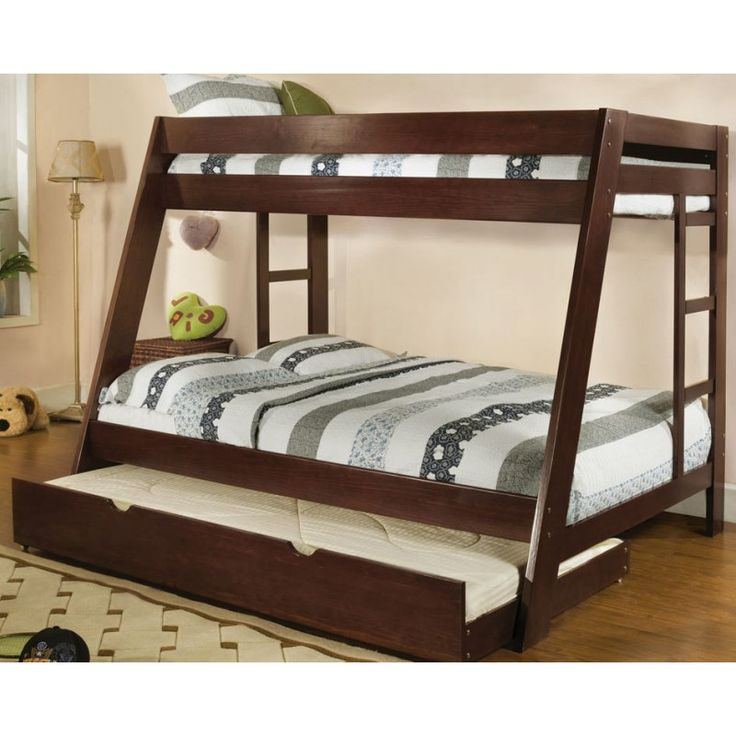twin over full size bunk bed with trundle maybe for the study someday 565