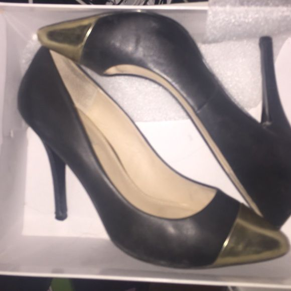Black and gold pumps Black and gold pumps Steve Madden Shoes Heels